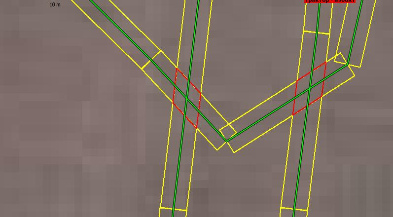 трек глонасс трактор едет с прицепным шириной 5 метром по полю с перехлестами, считаем площадь