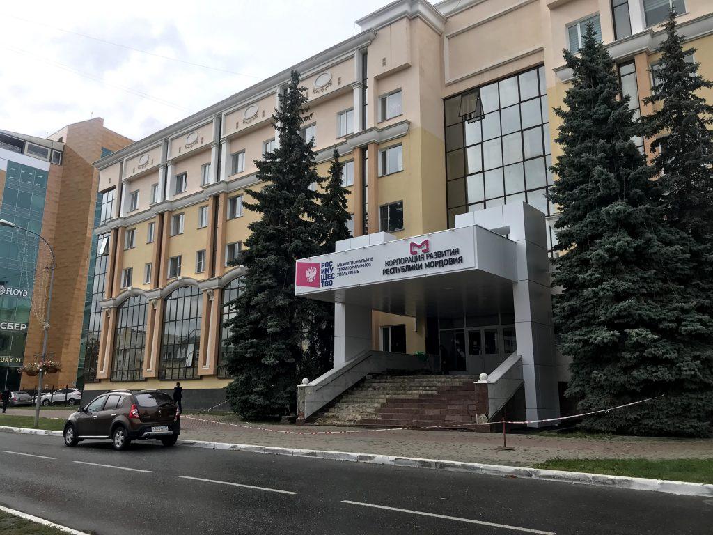 Крыльцо Территориального отдела государственного автодорожного надзора по Республике Мордовия